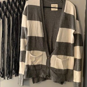 Striped long button up Abercrombie & Fitch sweater